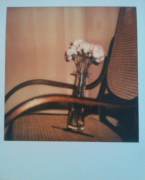 rocking chair with flower